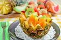 Picture Apple, fruit salad, kiwi, orange, pineapple, dessert, banana