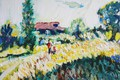 Picture landscape, flowers, nature, 2012, cottage, The petyaev, adult and child
