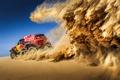 Picture sand, machine, the sky, desert, Rally, Mini