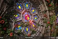 Picture stone, Rose Window Substance, stained glass