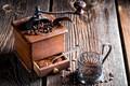 Picture Board, glass, grain, coffee, coffee grinder