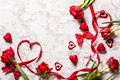Picture flowers, flowers, red, gift, Valentine's Day, hearts, hearts, love, tulips, tulips, romantic, gift, wood, love, ...