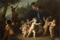 Picture tree, oil, picture, mythology, Hendrik van Limborch, Playing Putti
