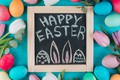 Picture tulips, spring, Board, Holiday, eggs, Easter, flowers