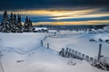 Picture winter, forest, snow, the fence, Norway, Lillehammer, Lillehammer
