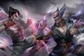 Picture tekken 7, fighters, Heihachi Mishima, art, Kazuya Mishima, kazuya, namco