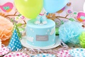 Picture balloons, cake, cake, decoration, Happy, Birthday, Birthday