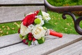 Picture red roses, roses, white, bouquet, wedding, wedding bouquet, red, flowers