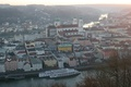 Picture river, ship, Germany, Bayern, panorama, The Danube, Passau, Inn, St. Stephen's Cathedral