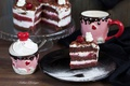 Picture dessert, Cup, cake, cherry