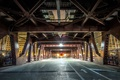 Picture Wells Street, bridge, support, Chicago USA