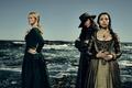 Picture sea, stones, girls, coast, the series, TV Series, Black Sails, Black sails, Hannah New, Jessica ...