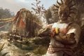 Picture survivor, mask, Dying Light The Following, game, Dying Light