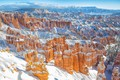 Picture National Park Bryce Canyon, snow, canyon, winter, worse, Utah, Utah, Bryce Canyon National Park