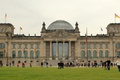 Picture the sky, the building, modern, Germany, flag, may, columns, the dome, lawn, Germany, Berlin, Berlin, ...