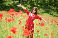 Picture Asian, dress, smile, summer, Mac, field, look