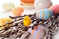 Picture Easter, branches, chicken, Verba, holiday, eggs, eggs