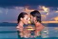 Picture girl, love, sky, sea, landscape, woman, sunset, water, evening, man, boy, mood, couple, face, Romantic, ...