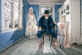Picture chair, beard, grandfather, doll, the bride