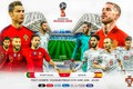 Picture collage, football, poster, Portugal, Russia, Spain, poster, 2018, The World Cup