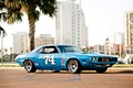 Picture blue race car, nascar, Dodge Challenger, old, 1973