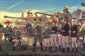 Picture seifuku, anime, Girls and Panzer, happy, army, tank, girl, oriental, asiatic, japanese, asian, tank