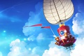 Picture clouds, sail, the sky, Super Mario Odyssey, art, ship, Nintendo