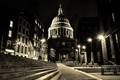 Picture St. Paul's Cathedral, night, London, England, lights