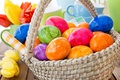 Picture spring, basket, decoration, colorful, Easter, Easter, tulips, tulips, happy, the painted eggs, spring, flowers, eggs, ...