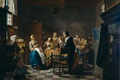 Picture Jan Josef II Horemans, New Song, people, interior, picture